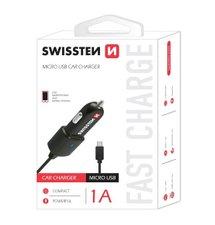 Swissten CL Autonabíjačka microUSB strunový kábel 1A ,blister