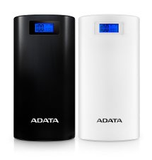 A-DATA Power Bank P20000D, 20000mAh, biely