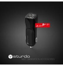 Autonabíjačka Sturdo 2xUSB, čierna, kapacita 2A