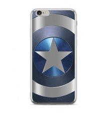 Puzdro Marvel TPU Huawei Y5 2018 Captain America vzor 005 (licencia) - silver