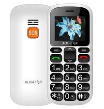 Aligator A321 Senior Dual SIM, Biely + stolná nabíjačka