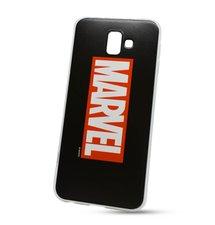 Puzdro Marvel TPU Samsung Galaxy J6+ J610 vzor 001 (licencia) - čierne