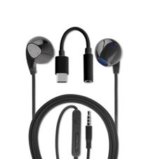 Slúchadlá 4smarts Melody USB 3.5mm/Type-C Audio Cable 1.2m - čierne