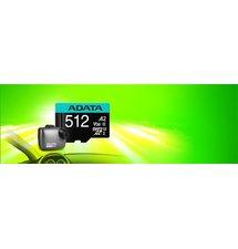 256 GB . Premier Pro micro SDXC/SDHC UHS-I U3 95MB/s karta ADATA class 10 (V30S) + adaptér
