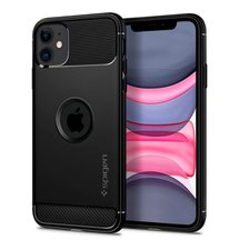 Puzdro Spigen Rugged iPhone 11 - Black