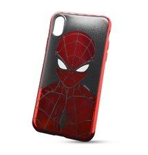 Puzdro Marvel TPU iPhone X/Xs Spider Man vzor 014 (licencia) - červené chrome