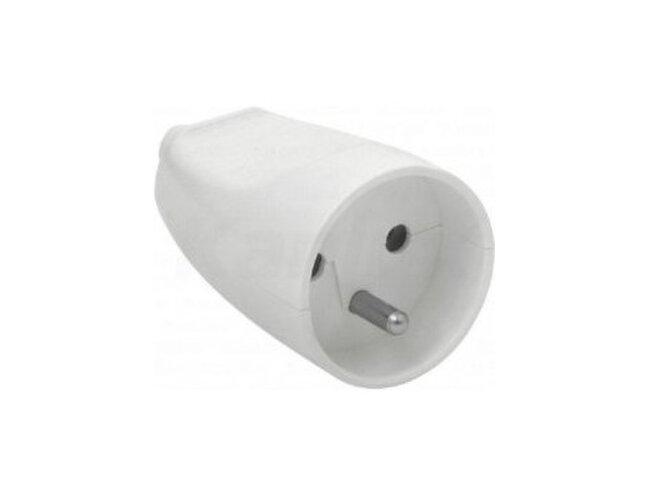Zásuvka-1 spoj. 5543N-C02100B biela priama  /za5543-2004/