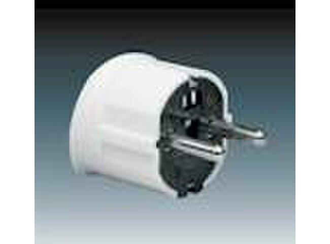 Vidlica 250V 5537-2004 biela schuko