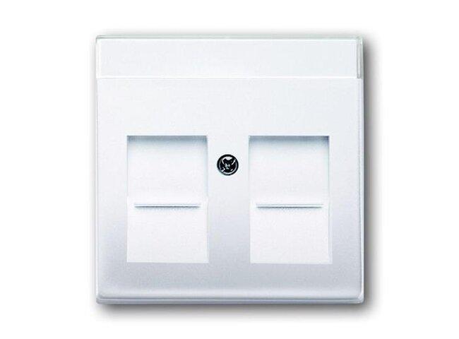 Basic55- kryt komunikačnej dvojzásuvky 1710-0-3945 biely