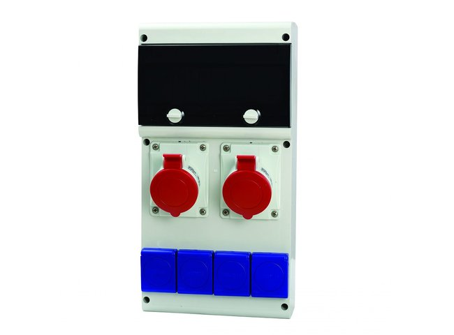 Rozvodnica istená 5P 2x32A,4x230V     632.33WW-102F2 s chráničom