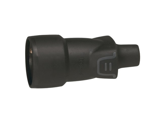 Zásuvka-1 spoj. 230V/16A gum.LE050446 s D.O IP44 (za 50246)