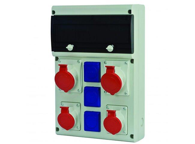 Rozvodnica istená 5P 2x32A,2x16A,3x250V 632.X3311-113F2 s chráničom