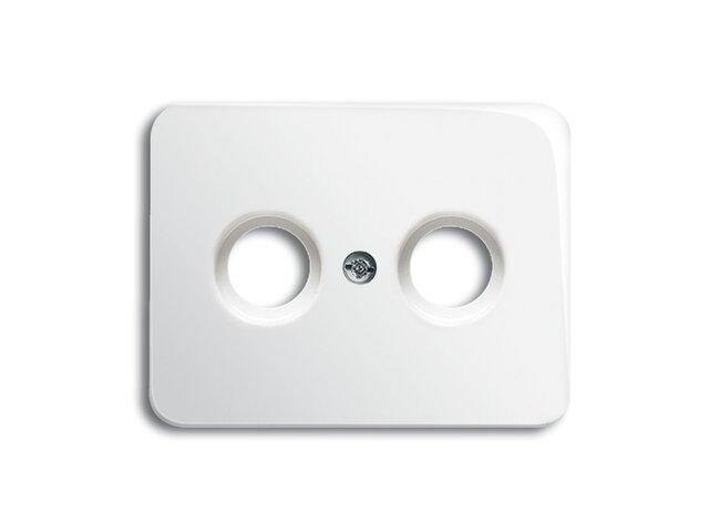 Alpha exclusive- kryt zásuvky TV+R 2CKA001753A7628 alabastrová