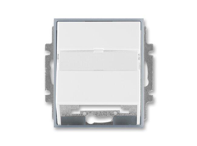 Element-kryt datovej zásuvky 5014E-A00100 04 biela/ľadová šedá