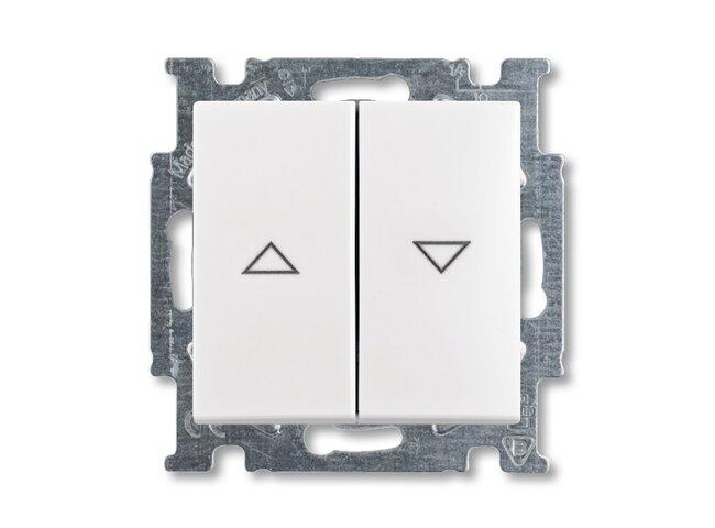 Basic55- spínač žalúziový biely 1012-0-2140 s mechanickým blokovaním