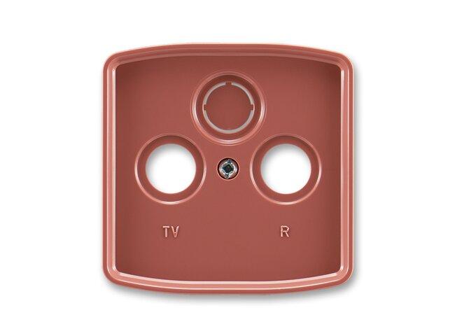 T- kryt zásuvky TV+R/SAT-vylam./ 5011A-A00300 R2 vresová červená