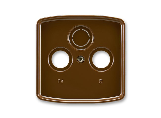 T- kryt zásuvky TV+R/SAT-vylam./ 5011A-A00300 H hnedá