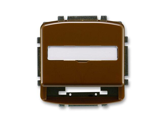 T- kryt datovej zásuvky 5014A-A100H-hnedá