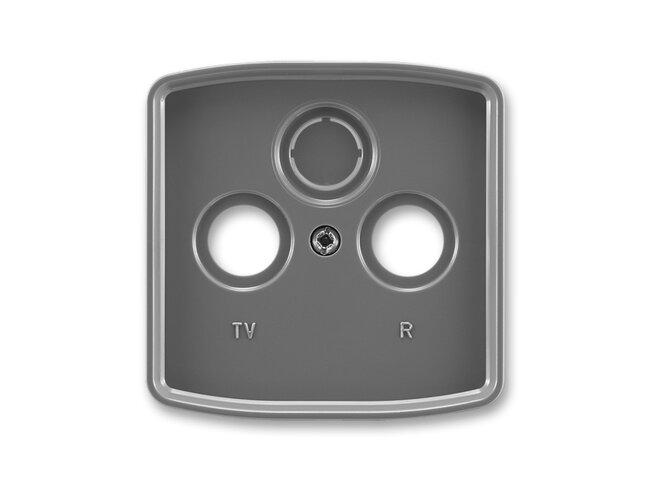 T- kryt zásuvky TV+R/SAT-vylam./ 5011A-A00300 S2 dymová šedá