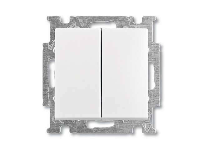 Basic55- spínač č.5B biely 1012-0-2144