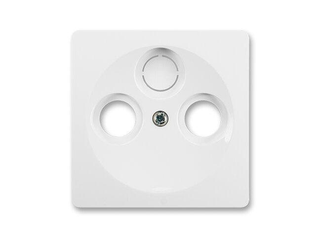 Swing- kryt  TV+R+SAT 5011G-A00300 B1 jasne biela