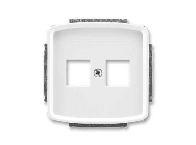 T- kryt komunikačnej zásuvky biely 5014A-A02018 B
