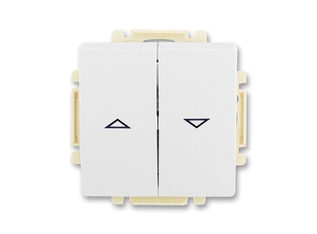 Swing- strojček žalúziový 3557G-A88340 B1 1/0+1/0 s blokovaním biely