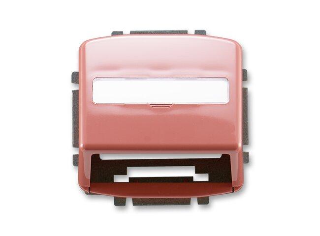 T- kryt datovej zásuvky 5014A-A100R2-vresová červená