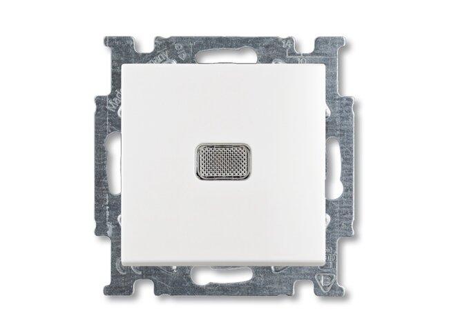 Basic55- spínač č.6S, 6So biely 3521B-A2534694  so svorkou N, s priezorom