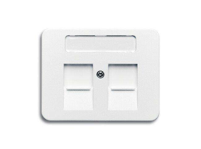 Alpha exclusive- kryt zásuvky komunikačnej 2CKA001710A2710 alabastrová