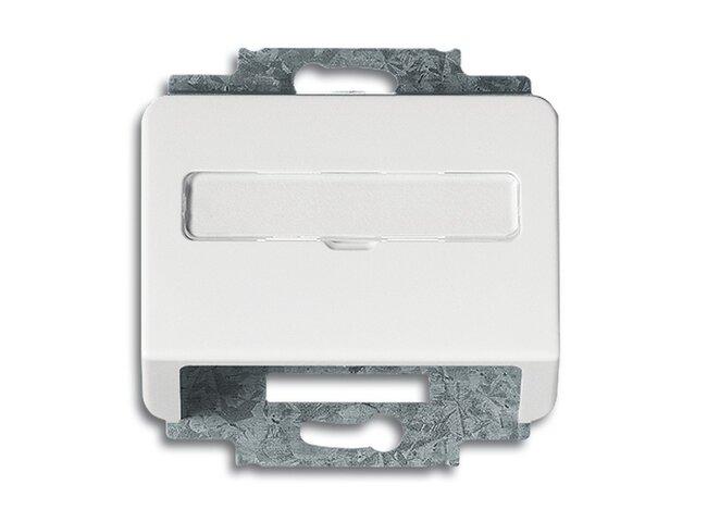 Alpha exclusive- kryt zásuvky komunikačnej 2CKA001724A2067 alabastrová
