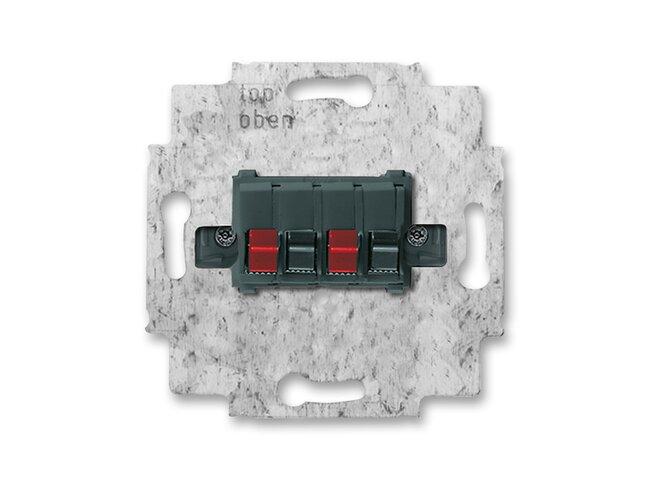 ABB- zásuvka reproduktorová 2CKA000230A0404 , stereo typ:0248/05-101