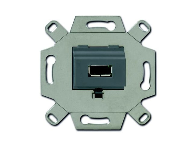 ABB- zásuvka komunikačná priama USB, 2CKA000230A0420 , šedá typ:0261/13-500
