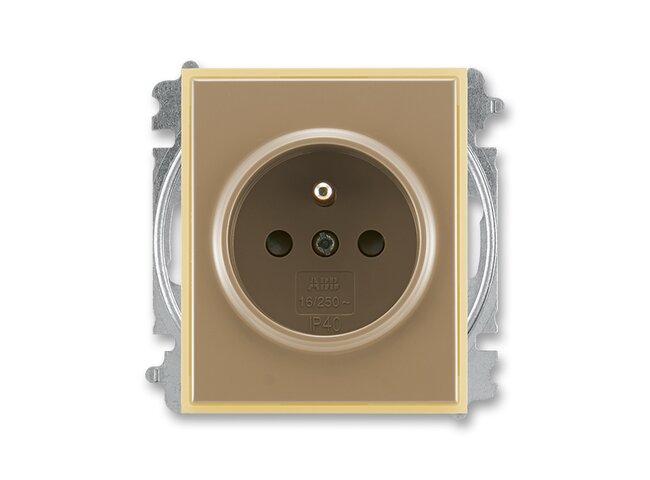Element-zásuvka-1 5519E-A02357 25 clonky kávová/ľadová opálová
