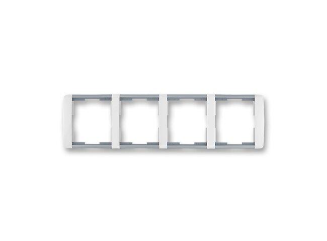 Element-rámček-4 vodorovný 3901E-A00140 04 biela/ľadová šedá