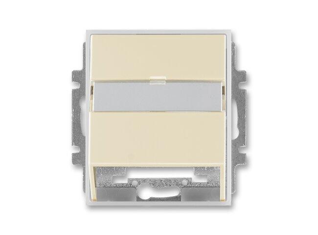Element-kryt datovej zásuvky 5014E-A00100 21-slonova kosť/ľadová biela