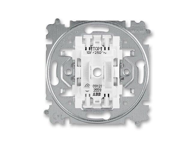 T- strojček č. 1/0+1/0 dvojtlačítko 3559-A87345 bezskrutkový