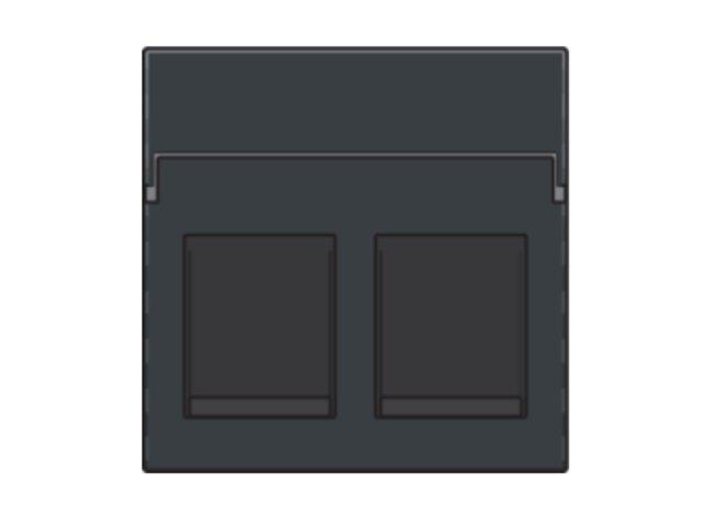 Niko kryt zásuvky DATA 2xRJ s krytom ANTHRACITE 122-65200