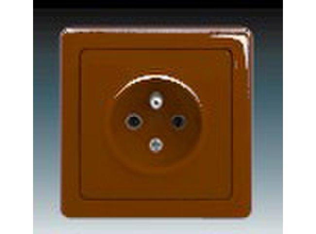 Swing- zásuvka-1 5518G-C02349 H1 hnedá