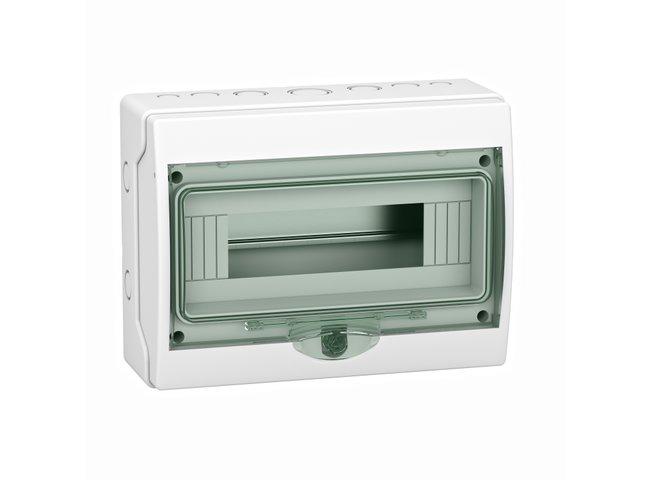 Skrinka  12M n.o. IP65  13979 KAEDRA 267x200x112mm transp. dvere