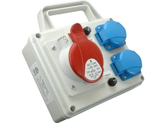 Rozvodnica 5P 1x32A,2x250V ROSP 3231 D s držiakom IP54