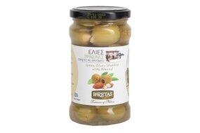Grécke zelené olivy plnené mandľami 290 g