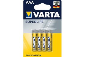 Varta Superlife baterky AAA 1,5V (4ks)