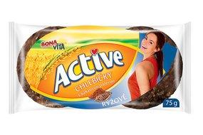 ACTIVE Ryžové chlebíčky s kakaovou polevou 75 g